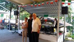 Riconoscimenti in onore della prima nata post terremoto Romina e Franco.