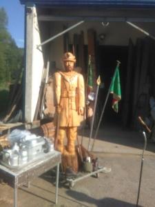 Trasporto Statua alla sede Musi.