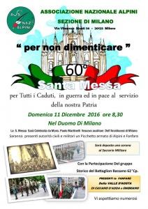 """MILANO - S.Messa in Duomo """"per non dimenticare"""""""