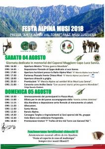 44° Festa Alpina Musi 2018
