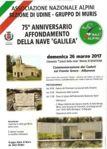 "75° Anniversario affondamento ""Galilea"""